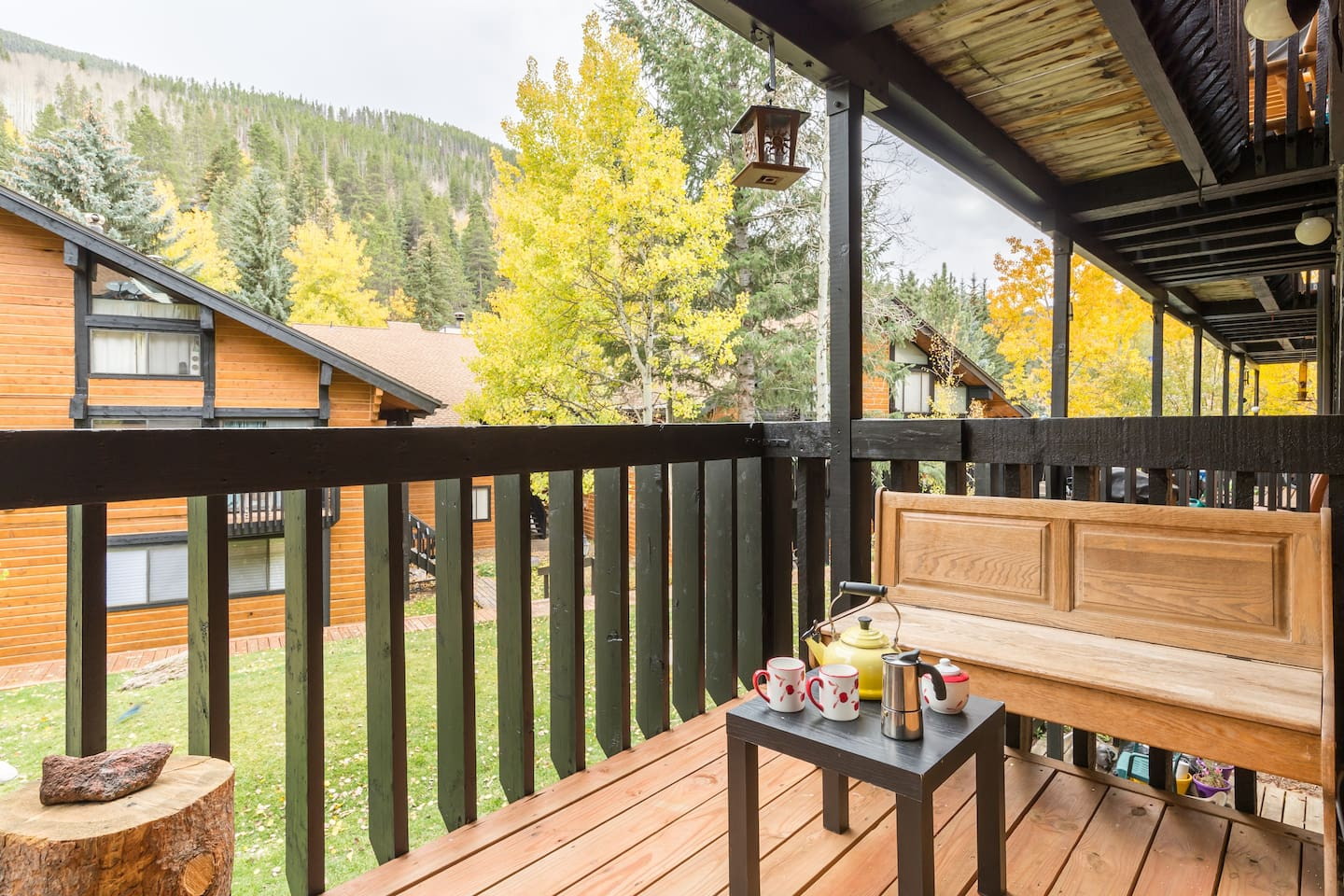 View from 2nd floor balcony , common share space.  In your downstairs bed Room there is a shared small deck