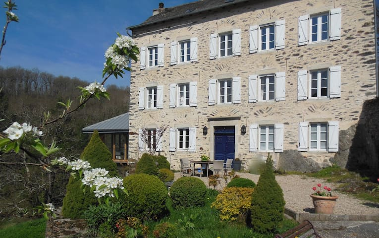 The Old Convent School, 30 minutes from Albi - Saint-Just-sur-Viaur - Bed & Breakfast