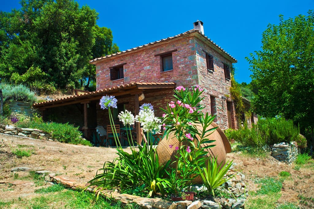 There are gardens woodland, orchard and olive groves to explore and relax in.