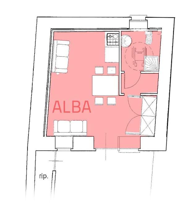 Pianta camera Alba
