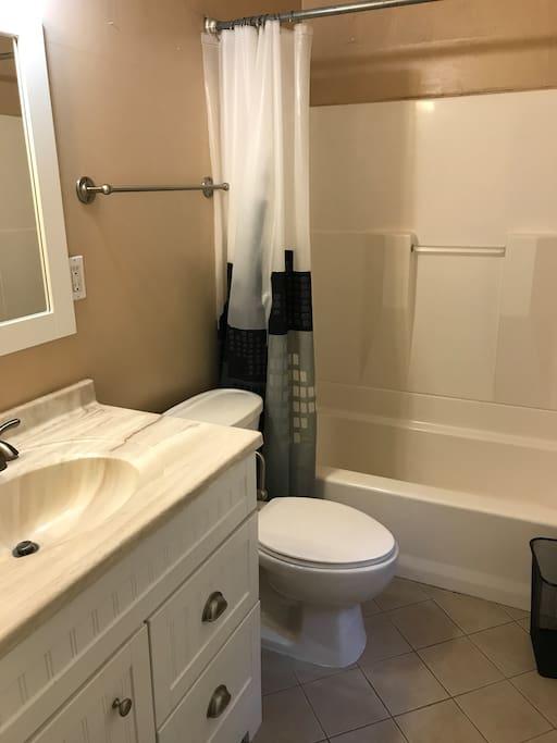 Combination Tub/Shower in En Suite Bathroom