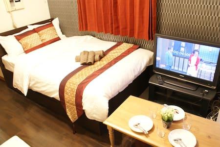 Luxury Style☆Next to Namba Sta(OCAT)+2Bd for 3ppl - Osaka-shi - Apartment