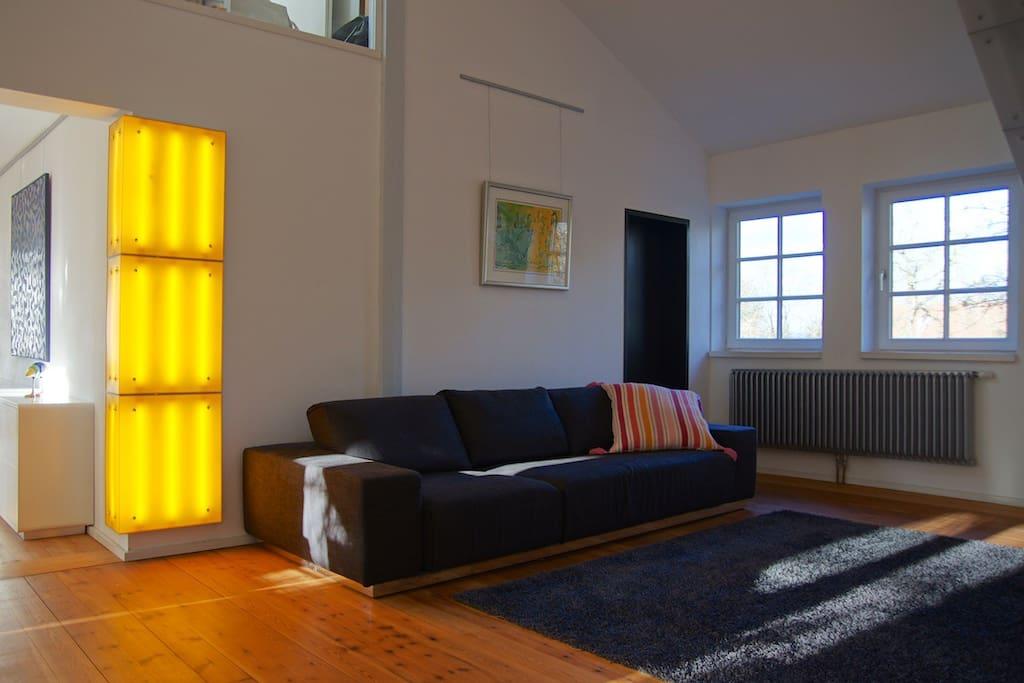 Designelemente behutsam gesetzt, schaffen ein leichtes und luftiges Flair Ihrer Wohnung