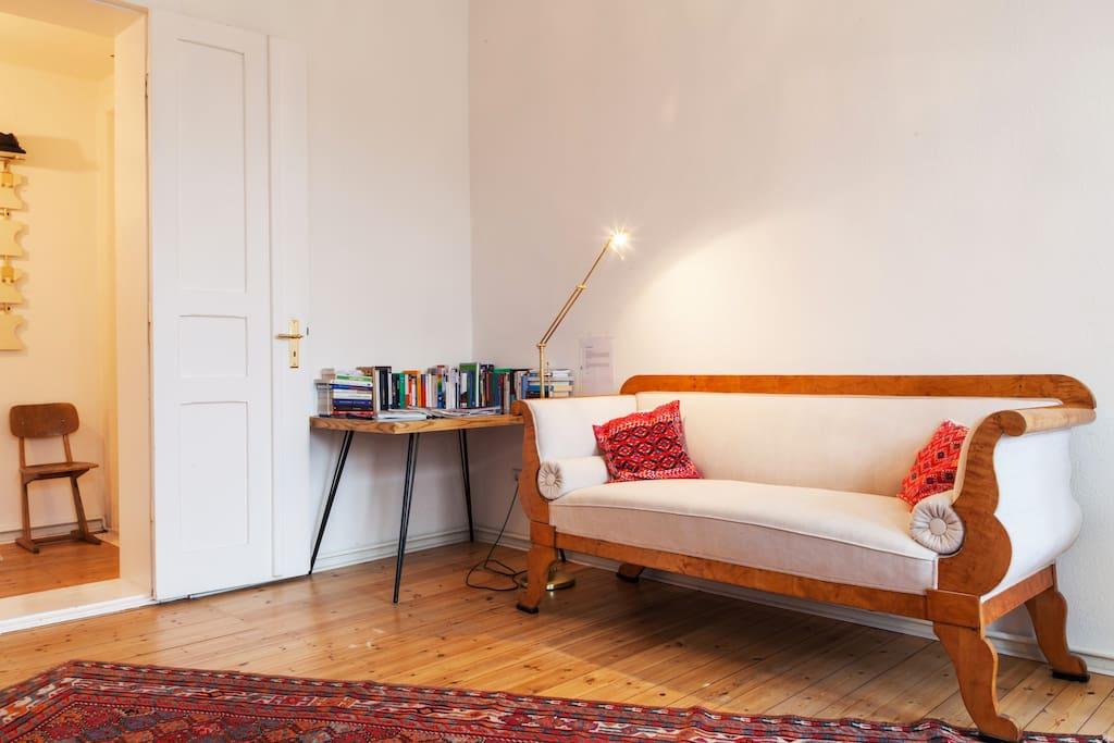 Cozy reading cornet in your master bedroom...
