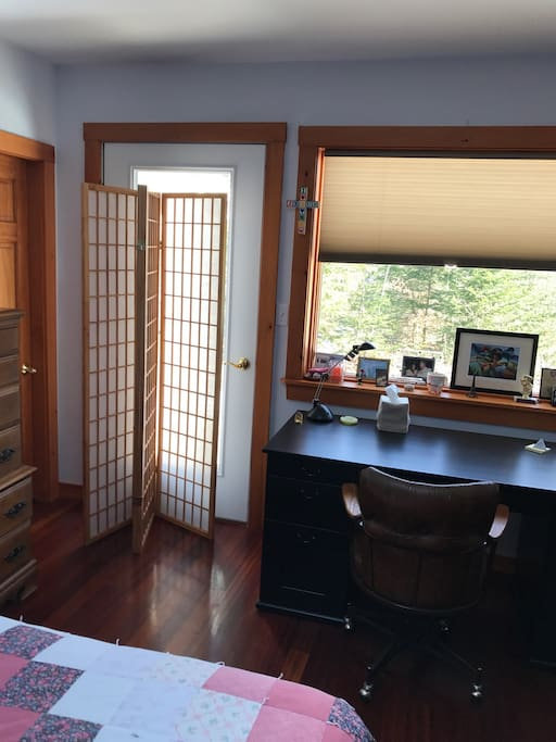 Private entrance into bedroom.