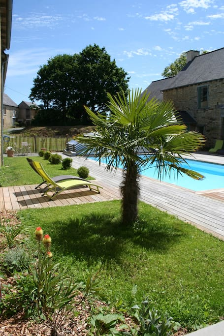 Espace piscine chauffée - Abri motorisé ouvert