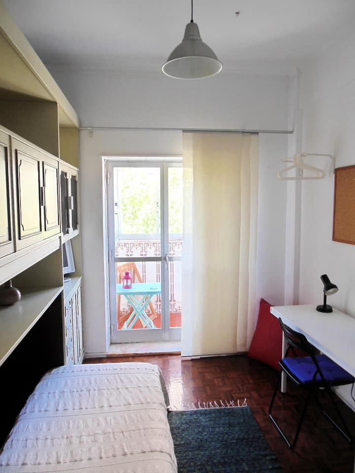 Room with private wc and balcony