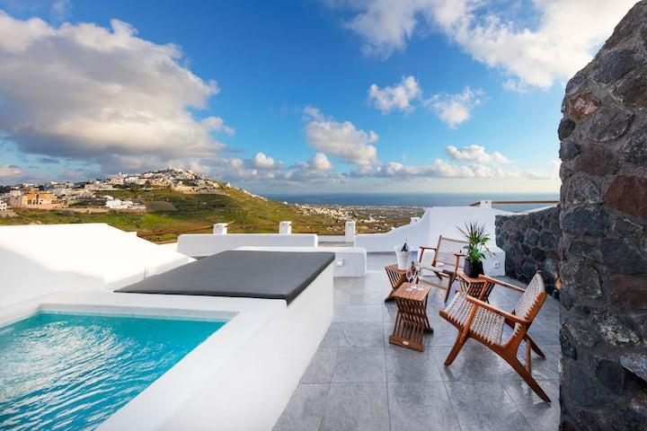 Cave villa Pearl, hot tub/panoramic view