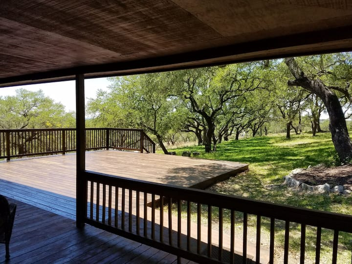 11 acre Hill Country Retreat with a 2000sq ft deck