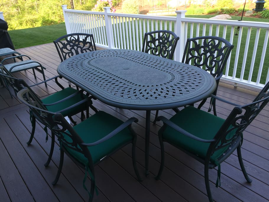 Eating area on back deck