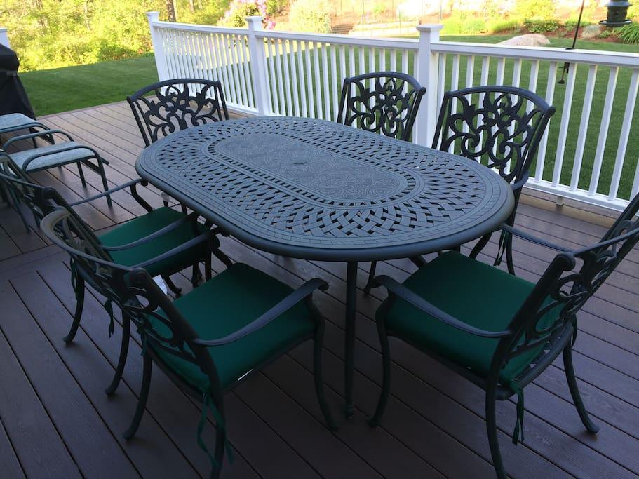 Eating area on back deck