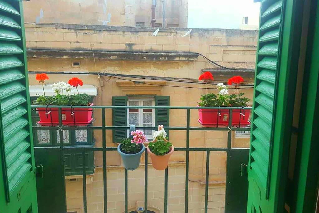 view from Main bedroom balcony onto Milner street