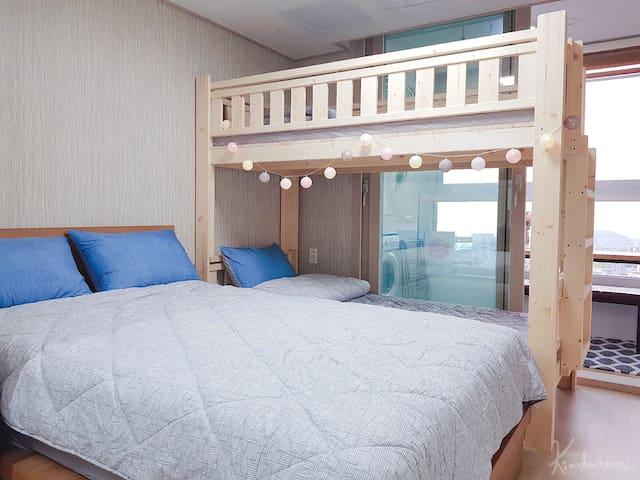 金珠媽濟洲部屋2 俯瞰城市海景 市中心最佳地段 樂天百貨側