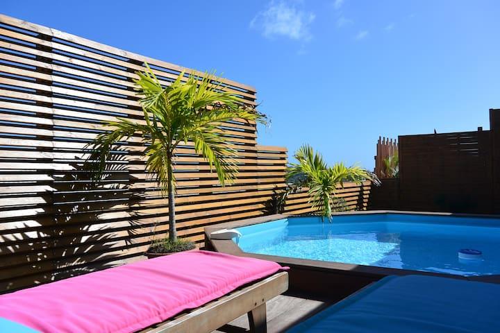 Bungalow avec vue mer et piscine privative