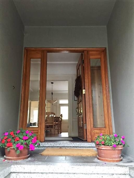 outside front entrance