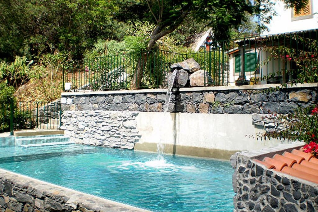 The pool is securely fenced and therefore perfect for children