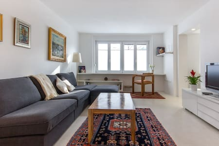 Centrally located modern apartment on a quiet street,comfortably fits two.Couple of minutes walk will get you along the river Ljubljanica and 5 minutes to Congress Square or to the foot of the Old Castle hill.