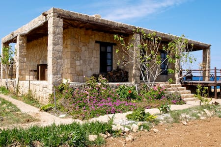 Unique stone house with private bay - Girne