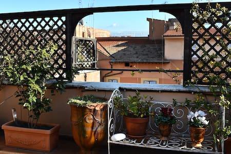 2 Terrasses appt dans Palais Romain