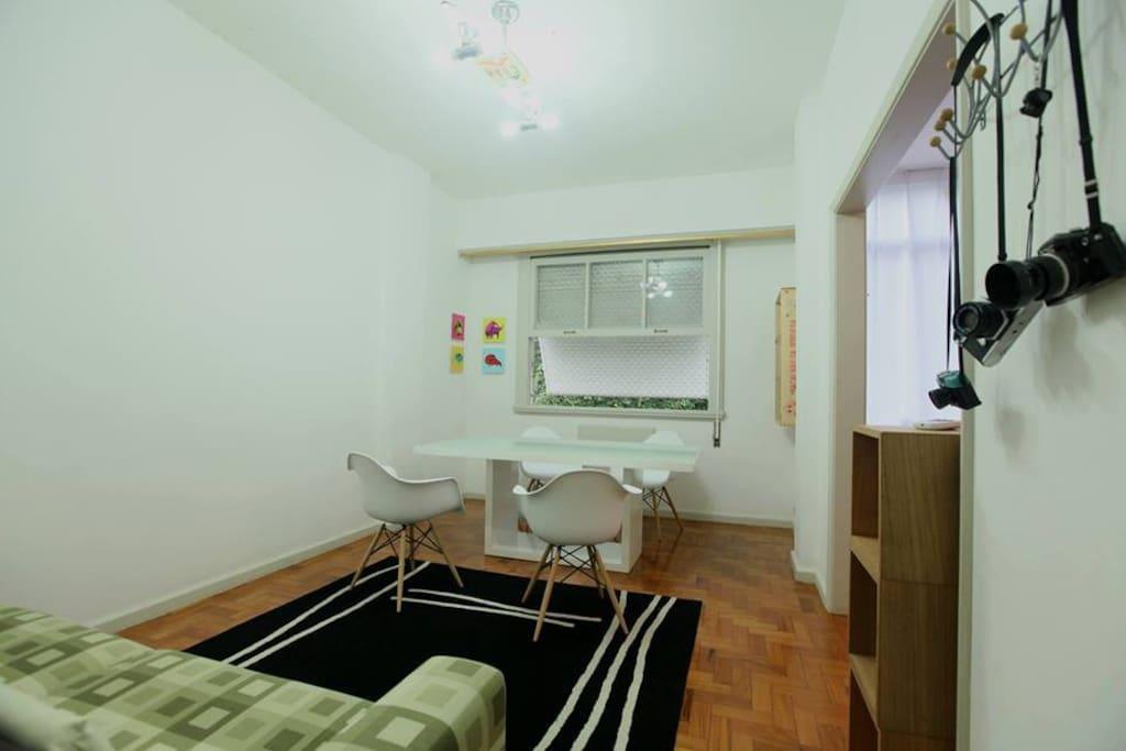 Uma das duas salas
