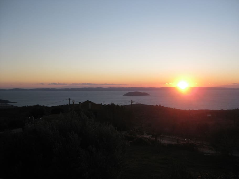 Amazing sunset view from our Villa