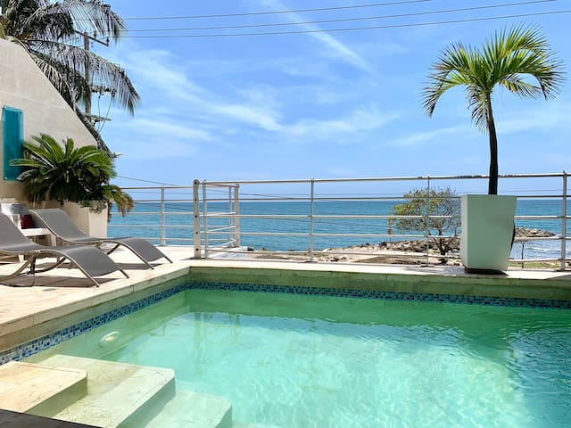 STUNNING 4 BR House beachfront with Private Pool