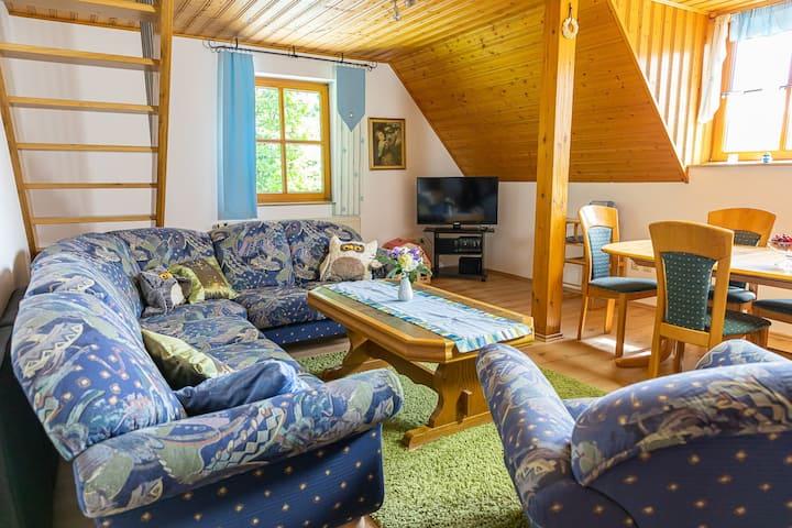 Eulenberghof Kraus (Altenkunstadt), Ferienwohnung Landhaus mit besonderer Küchenzeile