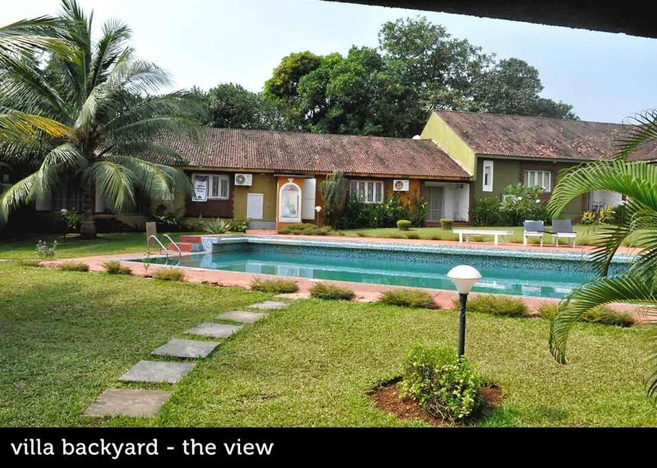 View- Villa Backyard