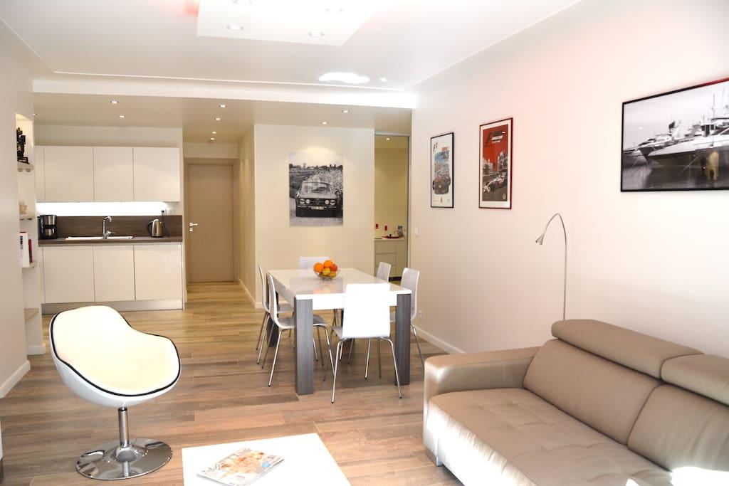 Appartement design 300m de la mer appartements louer for Location appartement design