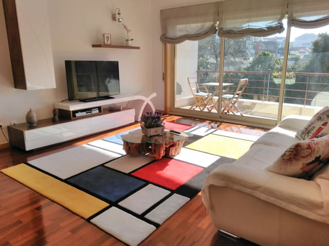 "Light apartment with a smell of ""Mondrian"""