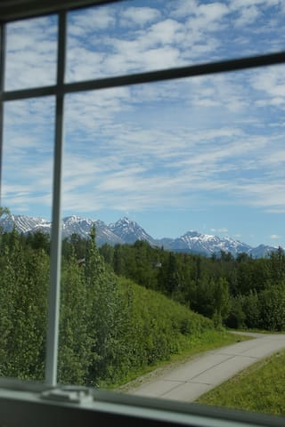Enjoy looking at the Chugach Mountains