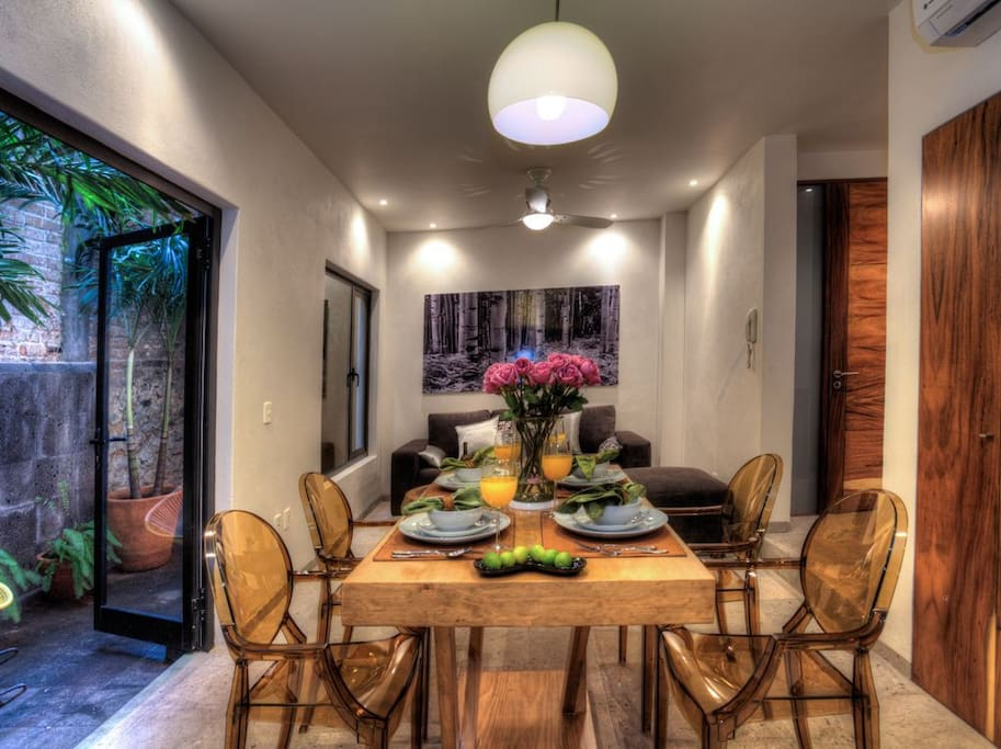 Dining Room, Living Room, Private Patio