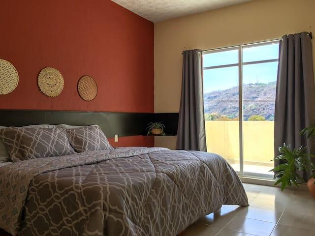 Suite con vista a las montañas a 20km de Valle B