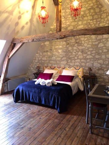 aquarelle - la chambre baroque - Sainte-Maure-de-Touraine - Bed & Breakfast