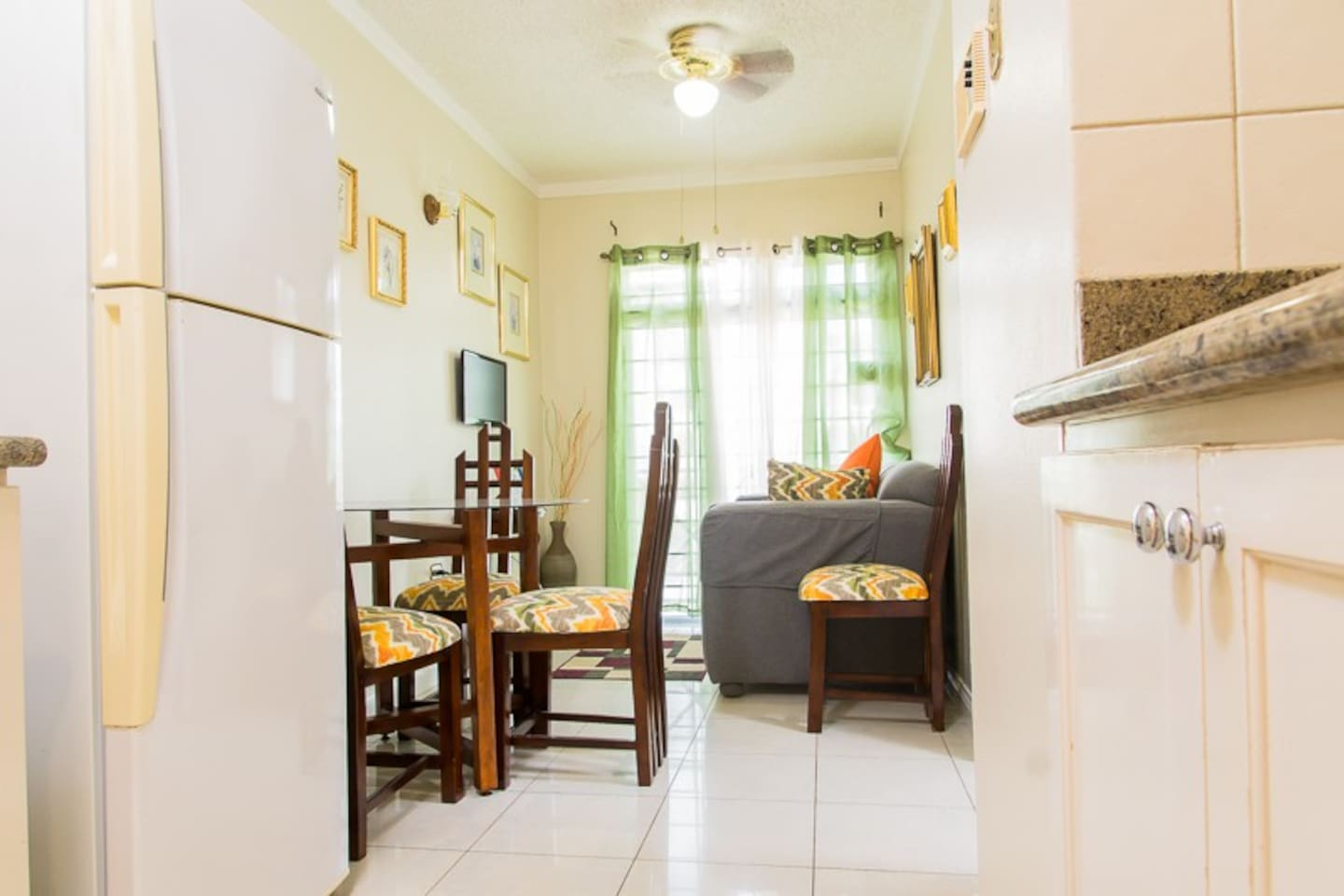 Kingston Jamaica Vacation Rentals - Galley Kitchen Apartment Entrance