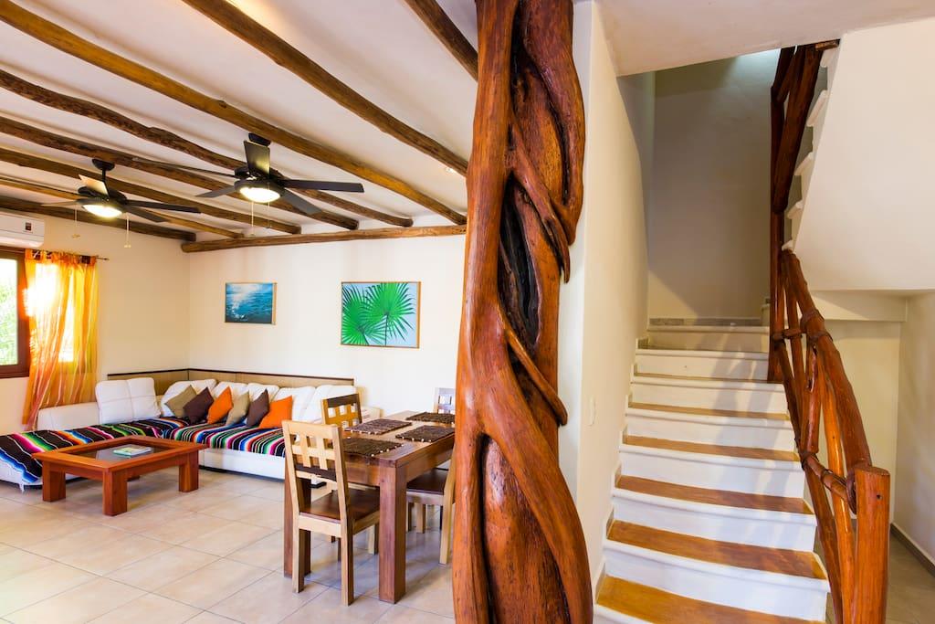Large Living Space with Unique details