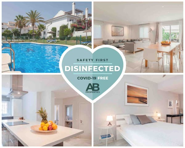 CVD19 FREE- Design House-3 mn to Puerto Banus-Pool