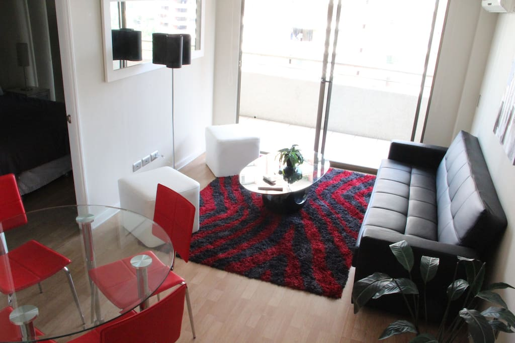 Living room with fouton, WiFi and terrace (apt 2)