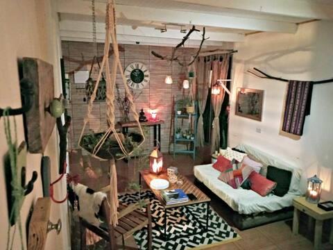 Habitación en Acogedora Casa Cercana a las Termas