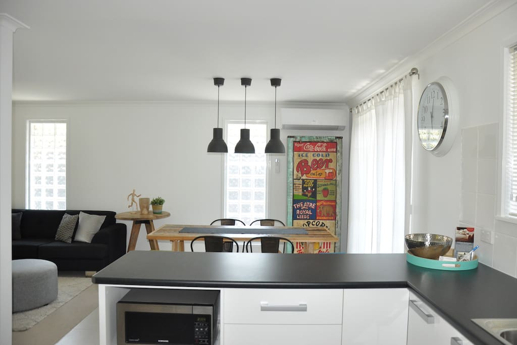 Generous Kitchen and Dining Area