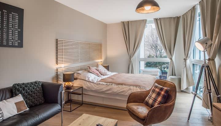 Beautiful renovated apartment near Carouge