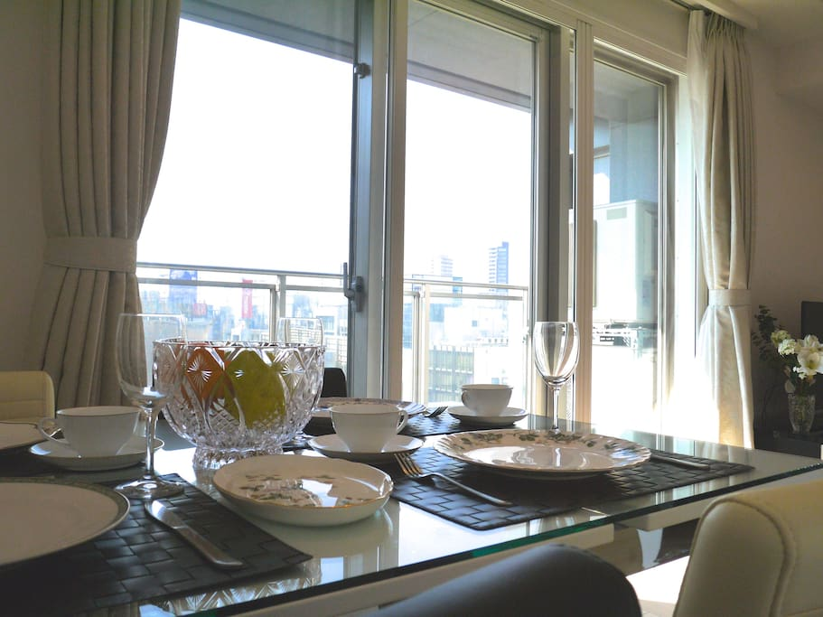 You can enjoy your meals in a bright sunlit room
