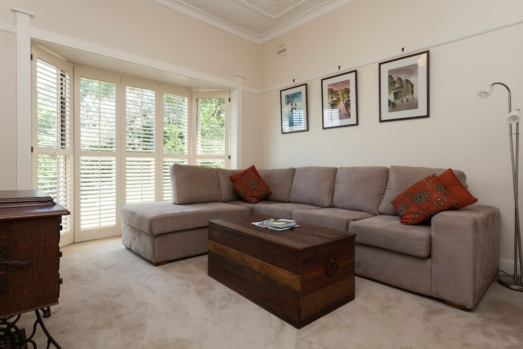 Comfortable separate lounge room with TV/DVD, and fast wifi.