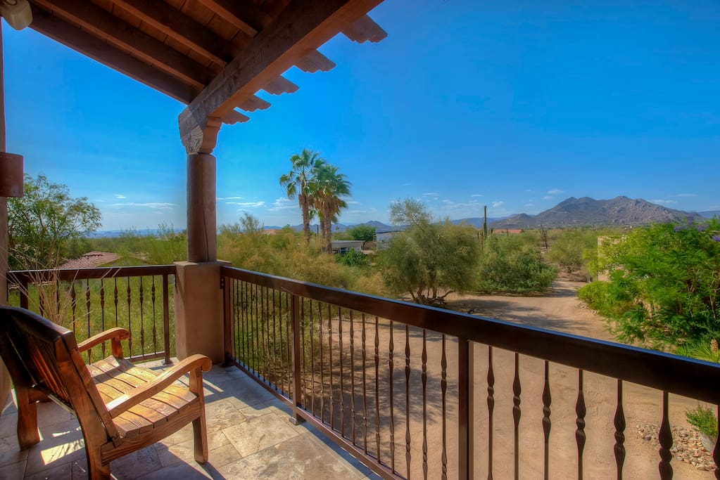 Relax on the patio and enjoy the beautiful views