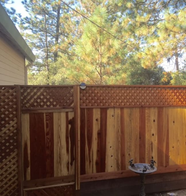 Privacy gate to your Pine Retreat