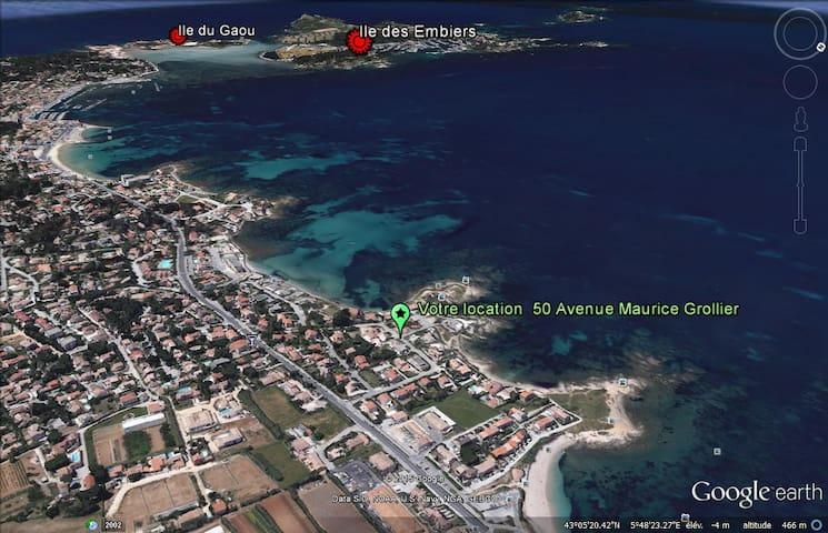 Maison avec jardin à moins de 50m des plages - Six-Fours-les-Plages - Casa