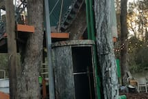 Elevator to the Yurt deck