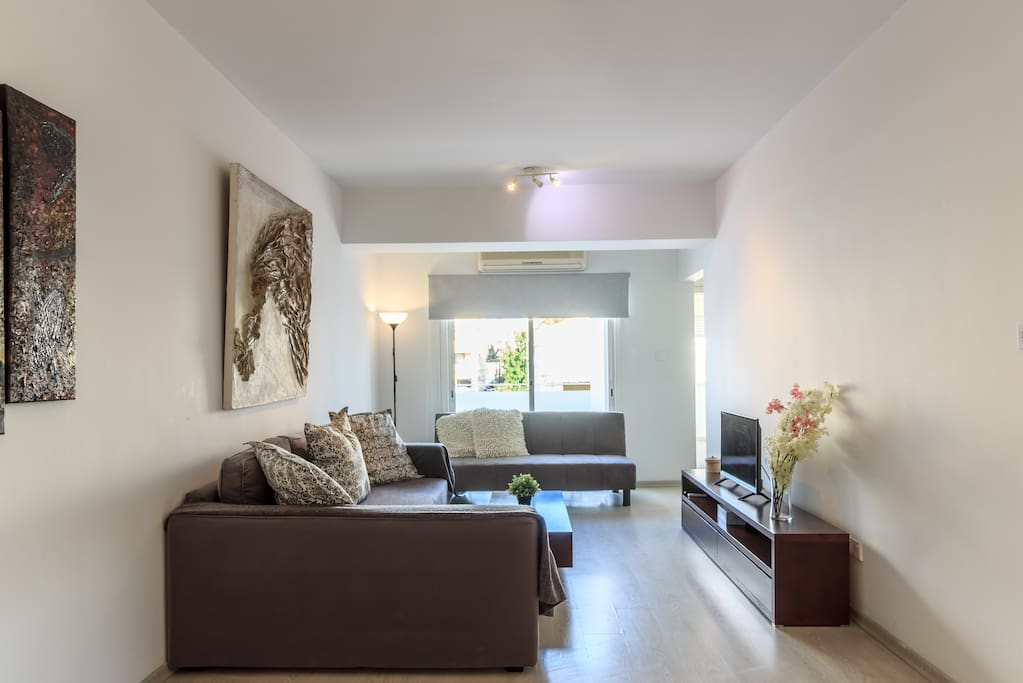 Double and Single sofa beds in the Living room area