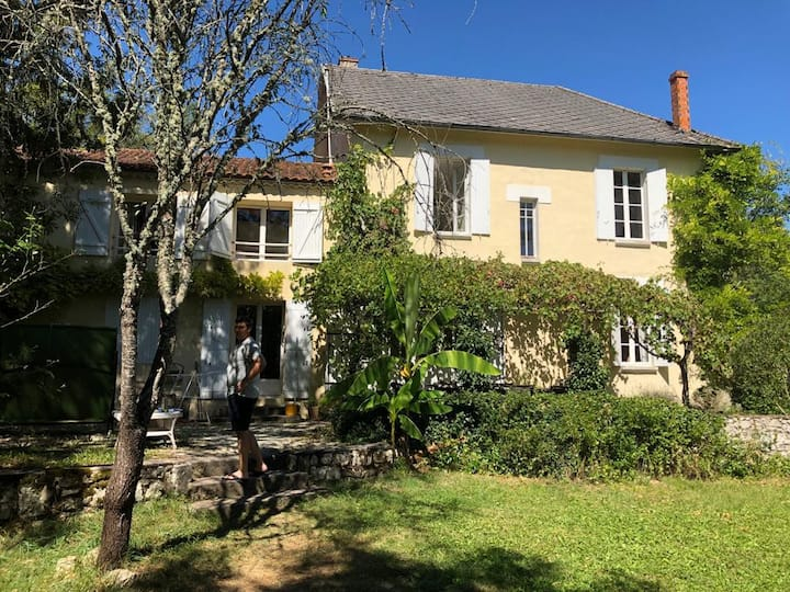 Charming French Mill House with Pool + Gardens