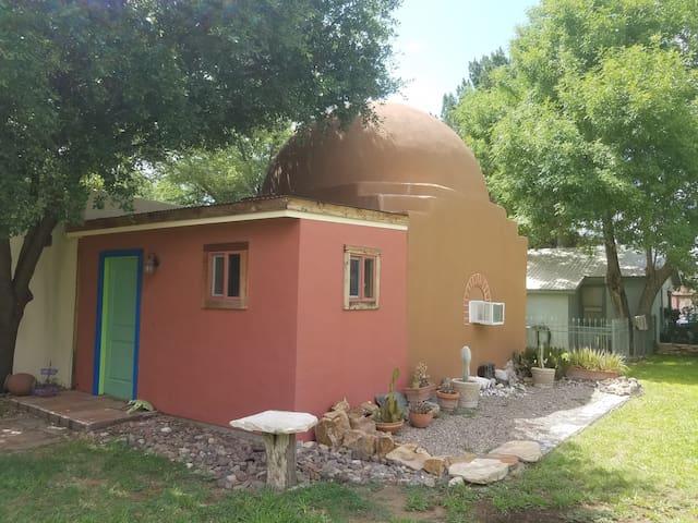 Funky Domed Casita Hidden in a Green Oasis
